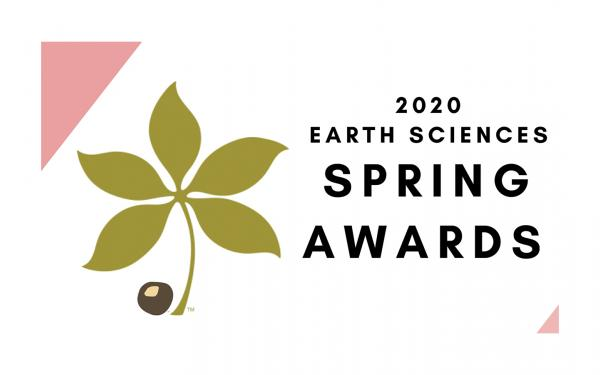 2020 Earth Sciences Spring Awards
