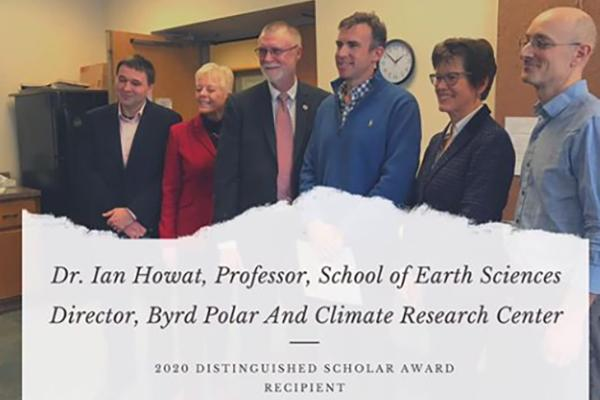 Dr. Ian Howat, 2020 Distinguished Scholar Award recipient