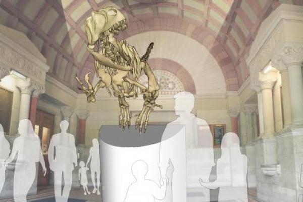 Orton Museum preps for crowdsourcing campagin to bring Cryolophosaurus to the Orton lobby