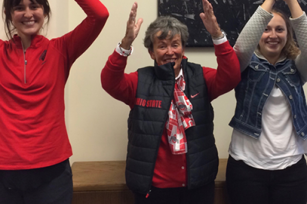 O-H-I-O! We welcomed visiting alumna Janie Rector.