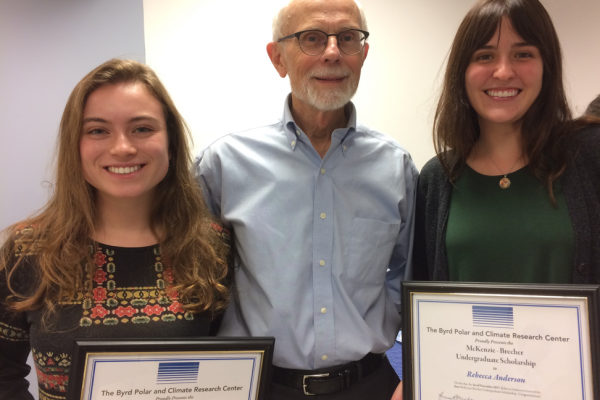 Lily Kleban and Becky Anderson received McKenzie–Brecher Undergraduate Research Scholarships.