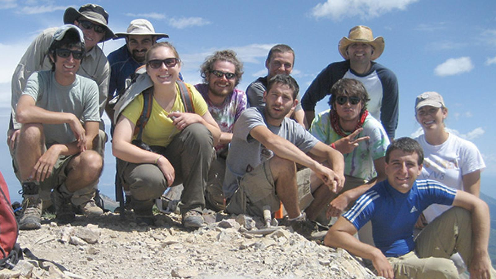 The 2011 field camp group in Ephram, Utah